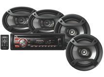 Radio DXT-X1769UB + Parlantes TS-165P + Parlantes TS-695P $99.990