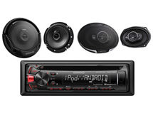 Pack Kenwood Radio KDC MP162U + Parlantes KFC-1665 + Parlantes KFC-6965S $89.990
