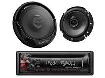 Radio Kenwood MP162U + Parlantes KFC6965S $79.990