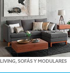 Living, sofás y modulares