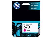 Tinta HP 670 Magenta $6.990