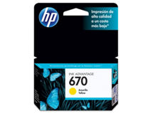 Tinta HP 670 Amarillo $6.990
