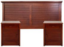 Respaldo 2 Plazas + 2 Veladores Greco by Rosen $199.990