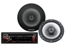 Radio KDC-MP155U + Parlantes KFC1620 KENWOOD $69.990