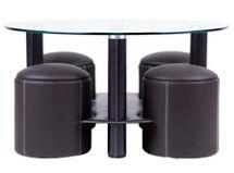 Mesa de Centro Tribeca + 4 Pouf Attimo $129.990