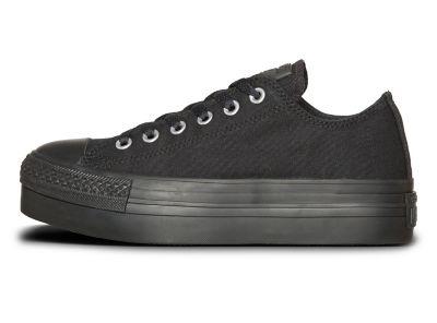 zapatilla converse skate mujer loreto plataforma negra ct