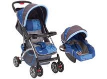 Baby Way Coche Travel System BW-402A13 Azul $85.990