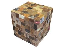 Pouf Cuero Patch DIB $59.990