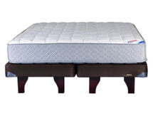 Cama Europea Chocolate 2 Plazas Base Dividida Therapedic Flex $249.990