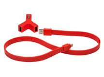 Cargador Auto Tylt Y-Charge + SynCable Rojo iPhone 5/5S $9.990