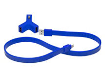 Cargador Auto Tylt Y-Charge + SynCable Azul iPhone 5/5S $7.990