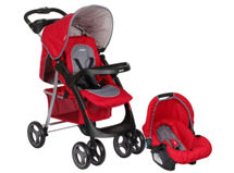 Infanti Coche Travel System Pompeya E30 Oval Rojo $119.990