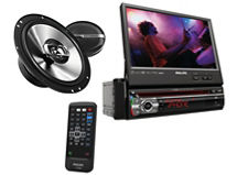 Kit Radio+Parlantes Philips In Dash/CSP-615 $199.990