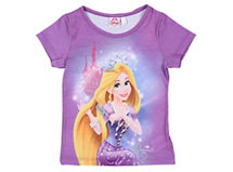 Princesas Polera Rapunzel Manga Corta $6.990