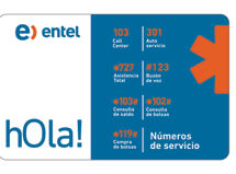 Sim Card Entel Nano Apple $1.990