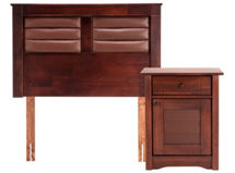 Set Muebles Rosen Bordeaux 1.5 Plazas $139.990