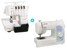 Overlock Brother 3034D + Máquina de coser BM 3700 $279.990