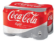 Six Pack Coca Cola Light $2.590