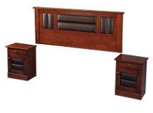 Set Maderas Flex Lorraine 2.0 Plazas: 1 Respaldo + 2 Veladores $169.990