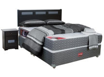 Box Active Pro Grafito 2 Plazas Base Dividida Pamplona textil $299.990
