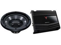 Combo para auto Kenwood: Amplificador KAC-1502 + Subwoofer KFC-W1012 $89.990