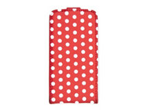 Estuche iPhone 4/4S Dots Rojo-Blanco $3.990
