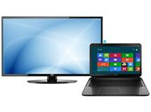 Notebook Compaq 15.6' AMD E1-2100 2GB/500GB + LED AOC 32' LE32W354F HD $349.990