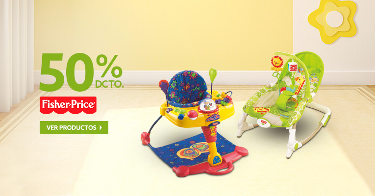 50% dcto. en Fisher Price