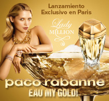 Lanzamiento Paco Rabanne Eau My Gold