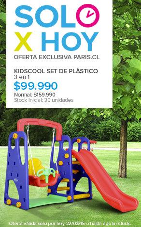 Solo por Hoy' Kidscool Set de Plástico 3 en 1 $99.990