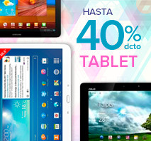 Hasta 40% dcto. Tablet