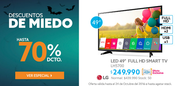 LG LH5700 Smart TV Full HD a $249.990