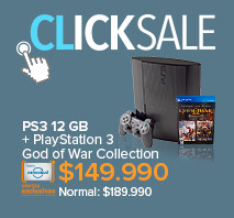 PS3 12 GB + PlayStation 3 God of War Collection a $149.990