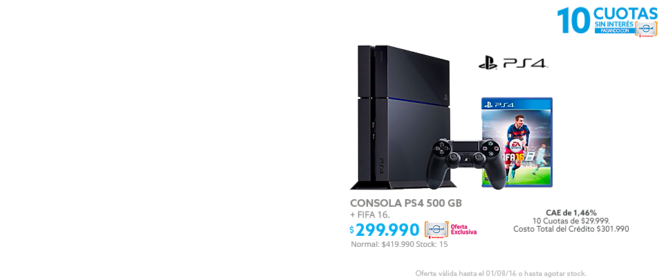 Gamers, PS4 a $299.990