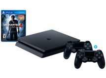 Consola PS4 500 GB Slim + Uncharted 4 + 2 Controles Dual Shock